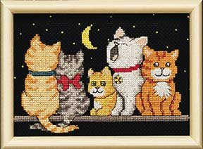 Midnight Meow Counted Cross Stitch Jiffy 16571