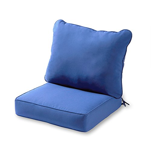 Sunbrella Cushions - Greendale Home Fashions Deep Seat Cushion Set, Marine