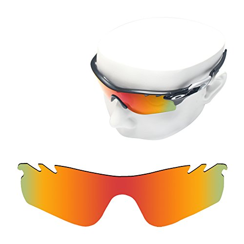 OOWLIT Replacement Sunglass Lenses for Oakley Radarlock Path Vented POLARIZED (Fire Red, Fire Red - Clear Lenses Oakley Radarlock