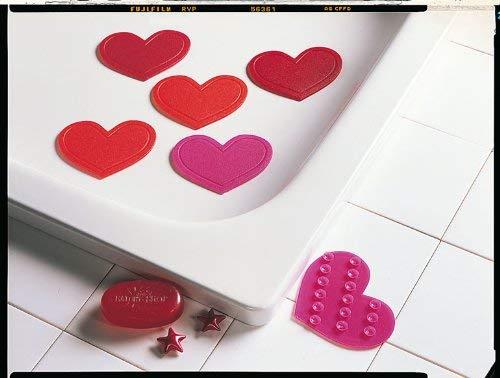 Rosa Rosa Mini Cuori Antiscivolo per Doccia e Vasca Kleine Wolke