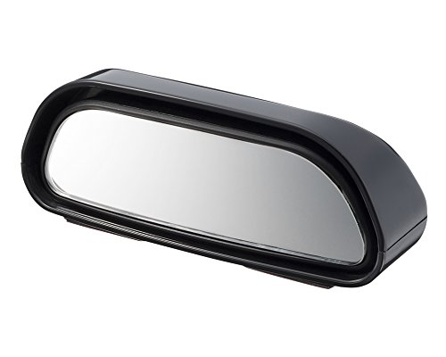 SEIKOSANGYO CO., LTD. EW-69 Support Mirror Attaches to the Lower Part of Side-View Mirrors Reduce Blind Spots Angles Are Adjustable R300 Curved Mirror Designed in Japan Black (Attachment Mirror)
