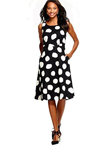 talbots-painted-dot-dress-black-ivory-size-8