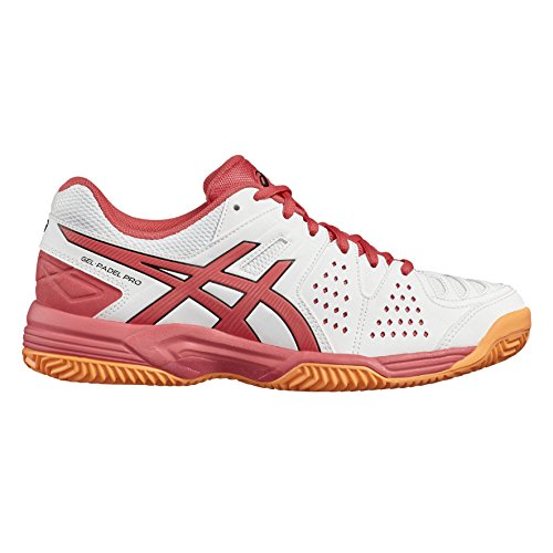 Asics Gel-Padel Pro 3 Sg, Zapatillas de Tenis para Mujer Blanco (White/rouge Red/flash Coral)