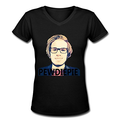 TBTJ Pewdiepie V-Neck T Shirt For Women Large