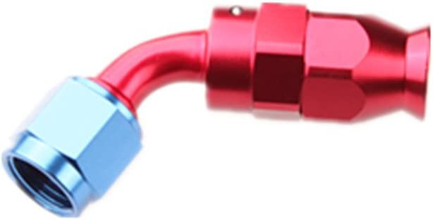 4AN Fitting for AN4 PTFE Teflon Fuel Line Hose End Aluminum Straight Swivel Female Red Blue