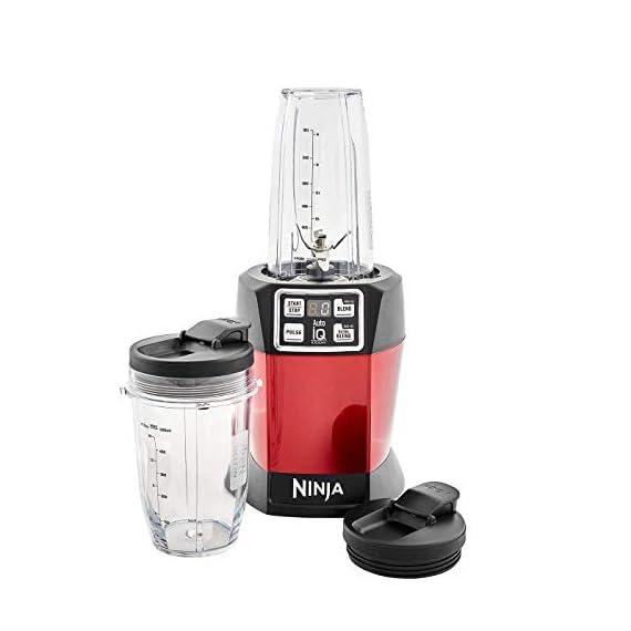 Nutri Ninja Auto-IQ Blender, 1000W, 1 Jar (Red) 3