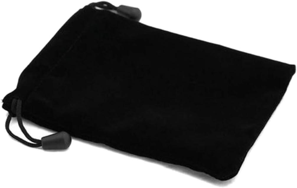 SimpleLife Black Bunch Mouth Bag Black Lint Bags Juegos de Mesa Gafas Dragones y calabozos Dados Recibir Bolsa