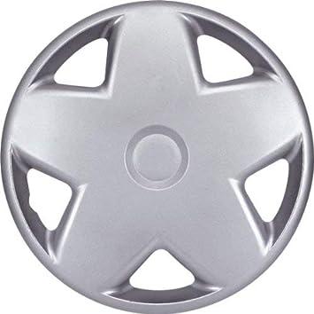 Plata Tapacubos 13 pulgadas. Juego de 4. Mónaco. Plástico de alto impacto.: Amazon.es: Coche y moto