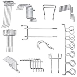 Yoodelife Metal Peg Board Hooks Heavy Duty Tools Organizer Assortment Shelving Hooks for Wall White Pegboard Pack, 50 Pcs