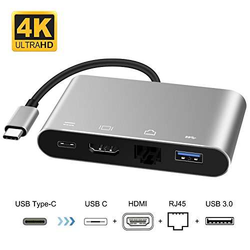 USB C to HDMI Adapter, Topoint Type C to HDMI Hub with Gigab