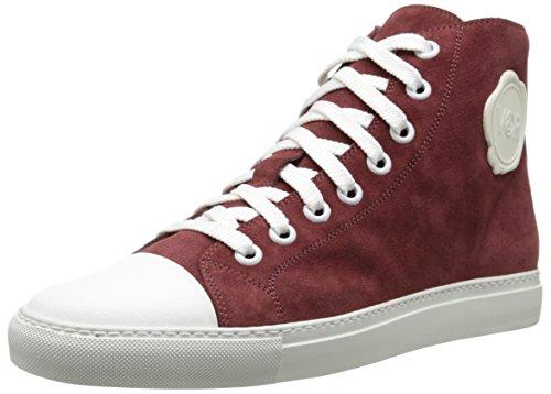 VIKTOR & ROLF Mens Velour Hightop Fashion Sneaker Burgundy IE3Qd