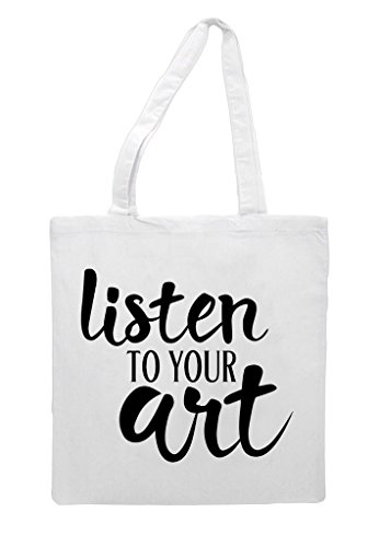 Your To White Shopper Listen Art Tote Bag Pv5qqRfxw