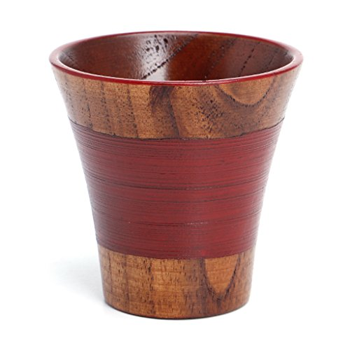 BetterM Handmade Natural Solid Wood Tea Cup Wooden for Wine Coffee Water Drinking Mug (6#) (Handmade Solid Wood)