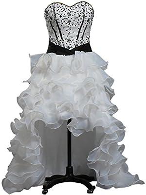 ANTS Women's Organza Wedding Dresses Short Front Long Back