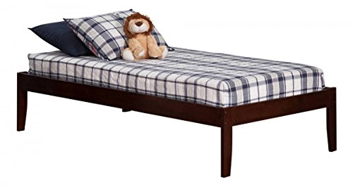 Atlantic Furniture Concord Twin XL Traditional Bed in Walnut