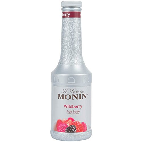 Monin 1 Liter Wildberry Fruit Puree Pack of 4 by TableTop King