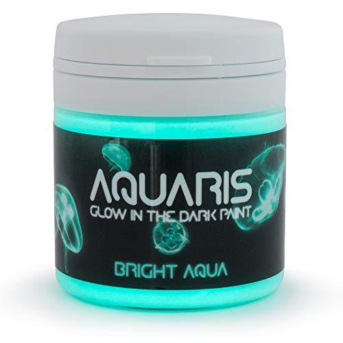 Blue Glow Paint (SpaceBeams Glow in The Dark Paint, Aquaris 1.7 fl oz (50ml), Bright Aqua Color (Light)