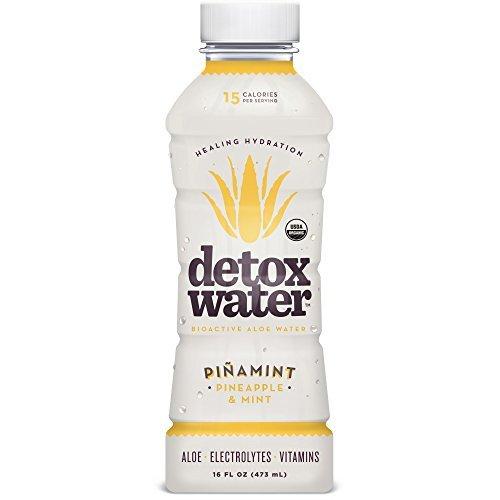 - detoxwaterTM Bioactive Aloe Water Piñamint Pineapple & Mint 16 Fluid Ounces, Pack of 6 by DETOX WATER