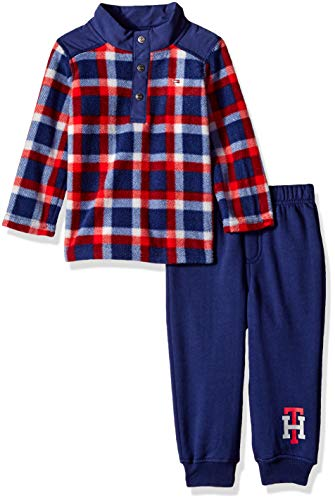 Tommy Hilfiger Baby Boys 2 Pieces Pants Set, red/Navy 24M ()