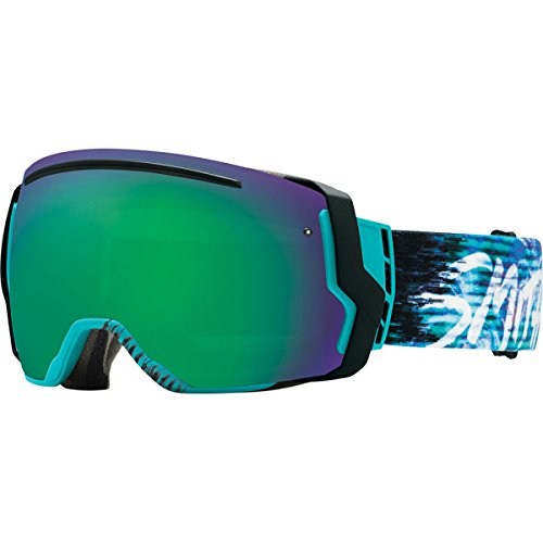 Smith Optics I/O7 Vaporator Series Snocross Snowmobile Goggles Eyewear - Poolside Palms/Green SOL-X/Red Sensor / Medium by Smith Optics
