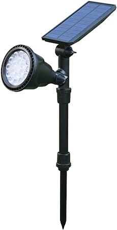 Pillar Light 18W Luz Solar Exterior,Luces Solares Jardín Iluminación Foco Solar Exterior Lámpara Solar Impermeable Luz de Seguridad para atio Garaje Terraza Pared Calzada: Amazon.es: Hogar