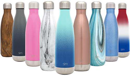 Simple Modern 25oz Wave Water Bottle - Stainless Steel Double Wall Vacuum Insulated Metal Reusable - Leakproof Ombre: Pacific - Wave Wall Double