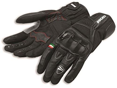 Ducati Company Logo Leather Textile City C2 Glove Black by Spidi Large