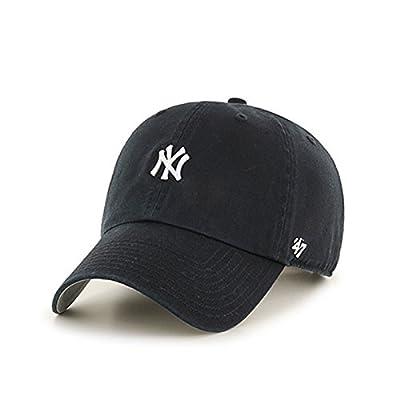 47 Brand New York Yankees Abate Clean Up Dad Hat Cap MLB Black/White