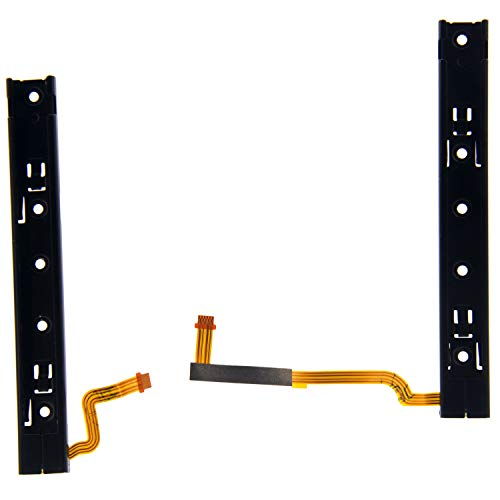 (Deal4GO 1 Pair Left Right Slide Rail Slider Bracket with Sensor Flex Cable Replacement Parts for Nintendo Switch Console Slide Bar)