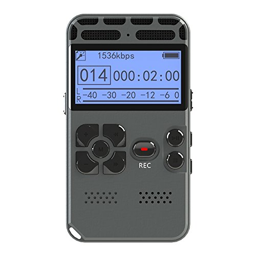 (Voice Recorder Greatwelly 8 GB Digital Audio Sound Recorder,Voice Activated Recorder for Lectures,Dictaphone with USB,MP3 Player)
