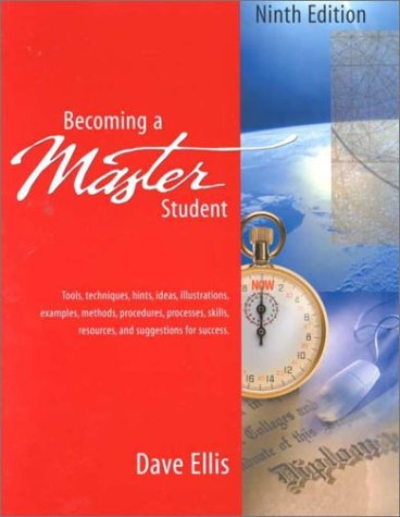 Becoming A Master Student Looseleaf Ninth Edition