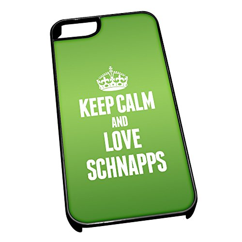 Nero cover per iPhone 5/5S 1506verde Keep Calm and Love grappa