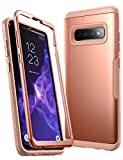 YOUMAKER Case for Galaxy S10+ Plus, Rose Gold Heavy Duty Protection Full Body Shockproof Slim Fit Without Built-in Screen Protector Cover for Samsung Galaxy S10 Plus 6.4 inch (2019) - Rose Gold/Pink