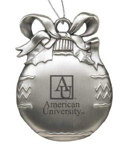 American University - Pewter Christmas Tree Ornament - -
