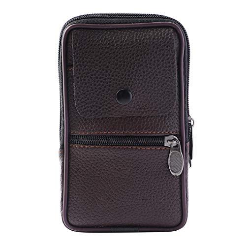 Vintage Car Honda (Wallets,iOPQO Vintage Pure Color Leather Handbag Messenger Coin Bag Phone Bag)