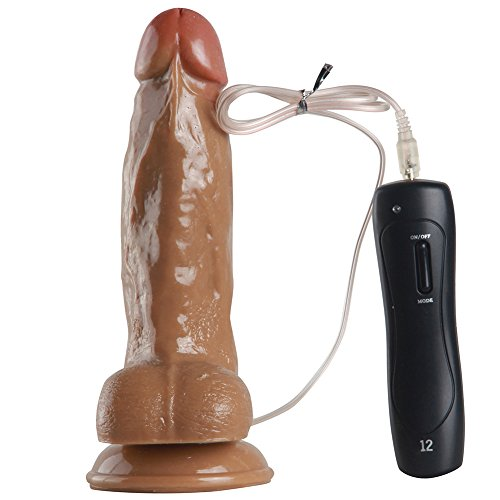 DressLoves Beginners 6.7 Inches Rotating cock With Suction Base Dildo With Realistic Feel- Veiny Shaft & Strong Suction Base- Female Sex Toy (Strapless Dicks)