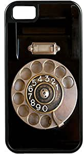 Rikki KnightTM Retro Rotary Telephone Deisgn Black Tough-It Case Cover for iPhone5 & 5s (Double Layer case with Silicone Protection and Thick Front Bumper Protection)