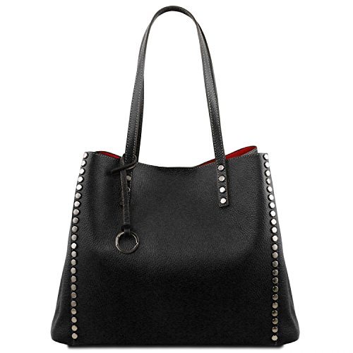 Tuscany Leather TL Bag Soft leather shopping bag Black by Tuscany Leather
