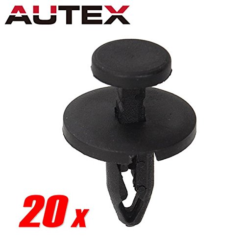AUTEX 20pcs Front Fender Liner Fastener Push in Type Rivet Auto Body Retainer Replacement for Chrysler 300M Replacement for Dodge Challenger RAM 1500 2500 3500 4500 5500, Compass Wrangler Patriot