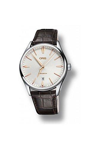 Oris Artelier Silver Guilloche Dial Automatic Mens Watch 01 737 7721 4031-07 5 21 65FC