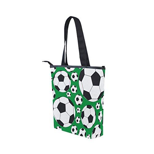 Lona Mydaily Mujeres Bolsa Fútbol Fútbol Del De De De De Hombro Las Verdes Bolso qww7rE
