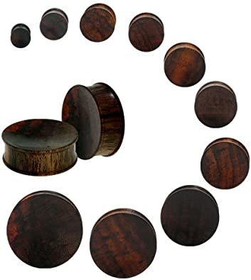 Price Per 1 8mm-31mm Saba Wood Double Flare Flying Sparrow Inlay Plug