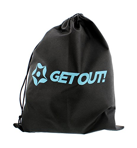 Get Out! Slackline Beginner Kit for Kids and Adults – Classic Slackline with Training Line Complete Kit