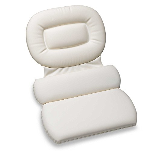 Richards Homewares 3 panneau oreiller de bain Spa, blanc