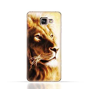 Samsung Galaxy A5 2016 TPU Silicone Case with Lion Portrait Air Brush Pattern