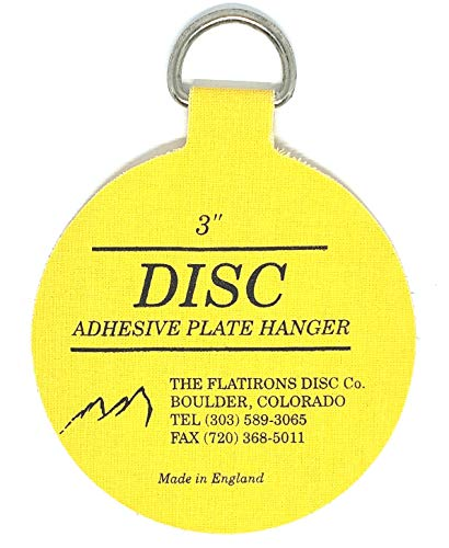 Flatirons Disc - Invisible English Disc - Adhesive Plate Hanger, 3 inch - (10 Pack)