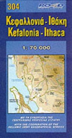 Kefalonia-Itliaca (Maps of Greek islands)