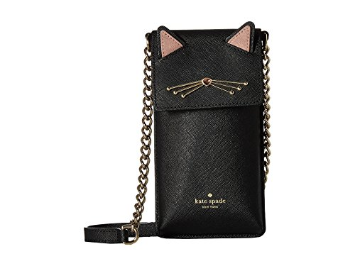 Kate Spade New York Women's Cat North South Phone Cross Body Case, Black, One Size
