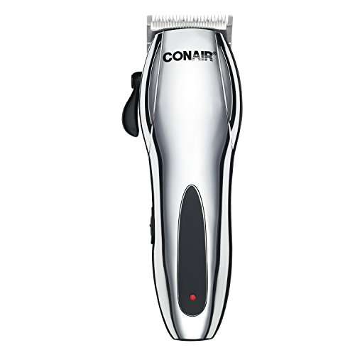 Conair Cord/Cordless Rechargeable 22-piece Haircut Kit; Home Hair Cutting Kit; Chrome Conair Cordless Hair Trimmer