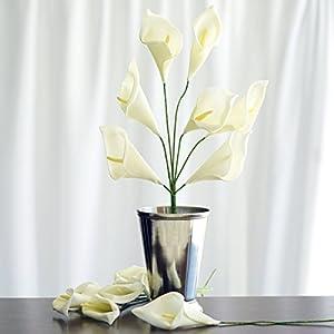 Efavormart 42 Calla Lily Artificial Wedding Flowers for DIY Wedding Bouquets Arrangements Party Home Decoration Supply - Cream 82